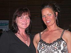 Birgit Fischer (vänster)