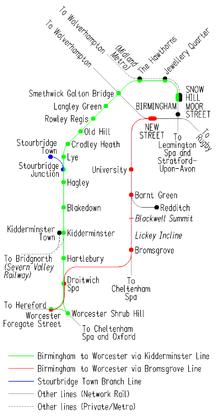 Birmingham to Worcester via Kidderminster line Wikipedia