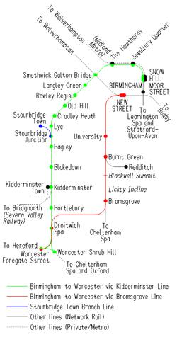 Birmingham to Worcester via Bromsgrove Line Wikipedia