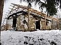 Biserica de lemn din Povârgina după incendiu (exterior).jpg