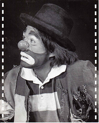 Clown - Image: Black and White looking sad