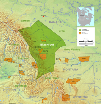 Tribal territory of Blackfoot