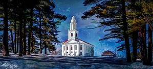 "Blandford, Massachusetts - The First Congregational Church of Blandford, known locally as ""The White Church"""
