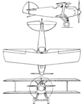 Bleriot-SPAD S.91 3-view Aero Digest August,1930.png