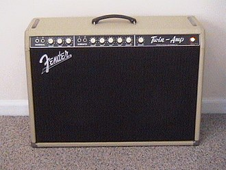 Fender Twin - 1960-61 Fender Twin-Amp in blonde (or white) tolex with an oxblood colored grille cloth.