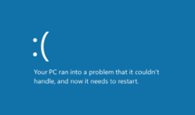 The Blue screen of death on Windows 8 & 8.1.