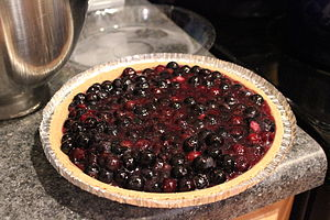 Blueberry pie - Image: Blueberry pie graham crust