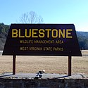 Thumbnail image of Bluestone Lake WMA entrance sign