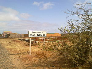 Welcome sign into João Galego