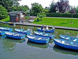 Boating - Boating on the Royal Military Canal at Hythe