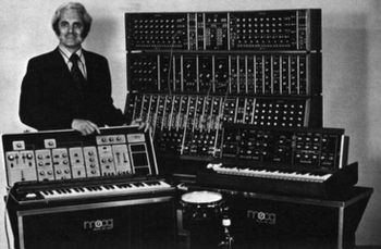 English: photo left to right Robert Moog Moog ...