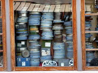 Cinematheque - Film reels at the Cinemateca Portuguesa, in Portugal