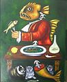 Bodegón de pescado en crisis, oil on wood, 97 x 77 cm. Date 2009.jpg