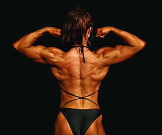 Female bodybuilding - An amateur bodybuilder posing at the London Classic and Stars of Tomorrow in November 2007