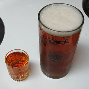 Drinking culture of Korea - Bomb drink by beer and hard liquor