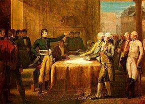 Il generale Bonaparte conclude i preliminari di pace di Leoben il 18 aprile 1797