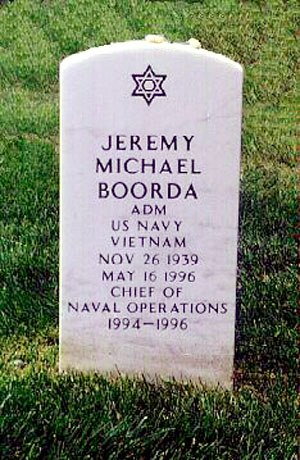 Jeremy Michael Boorda - Boorda's headstone at Arlington National Cemetery located at Section 64, Grave 7101, Grid MM-17