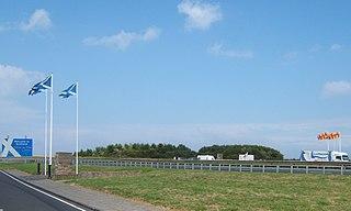 Anglo-Scottish border 96-mile long border between England and Scotland