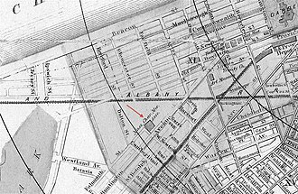 Mechanics Hall (Boston, Massachusetts) - Image: Boston 1888 Sampson Map Back Bay detail