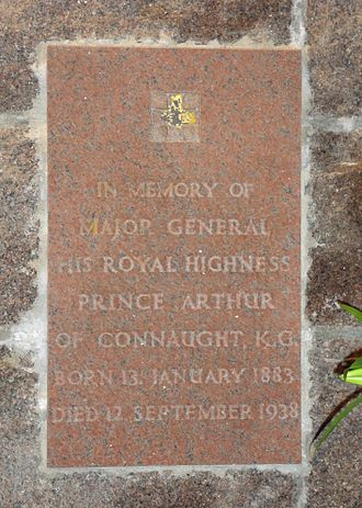 Prince Arthur of Connaught - St Ninian's Chapel, Braemar - wall plaque commemorating Prince Arthur of Connaught (1883–1938)