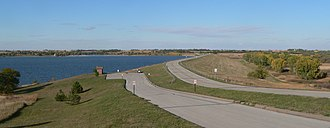 Branched Oak State Recreation Area - Image: Branched Oak Lake dam 1