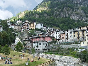 Branzi (BG), Lombardy, Italy - View. Brembo River
