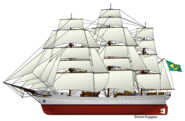 Brazilian sailing ship Cisne Branco