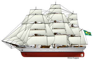 Cisne Branco - Image: Brazilian sailing ship Cisne Branco
