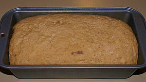 Bread in baking pan