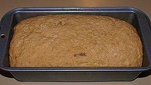 Bread in baking pan