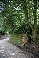 Brick wall and gravel road at Goodnestone Park Kent England 2.jpg