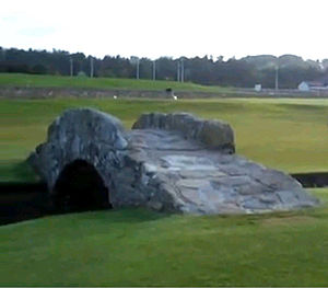Old Course at St Andrews - The Swilcan Bridge is one of the most iconic attractions in golf
