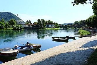 Adda (river) - The Adda river in Brivio