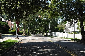 Fisher Hill Historic District - corner of Dean and Fisher Streets