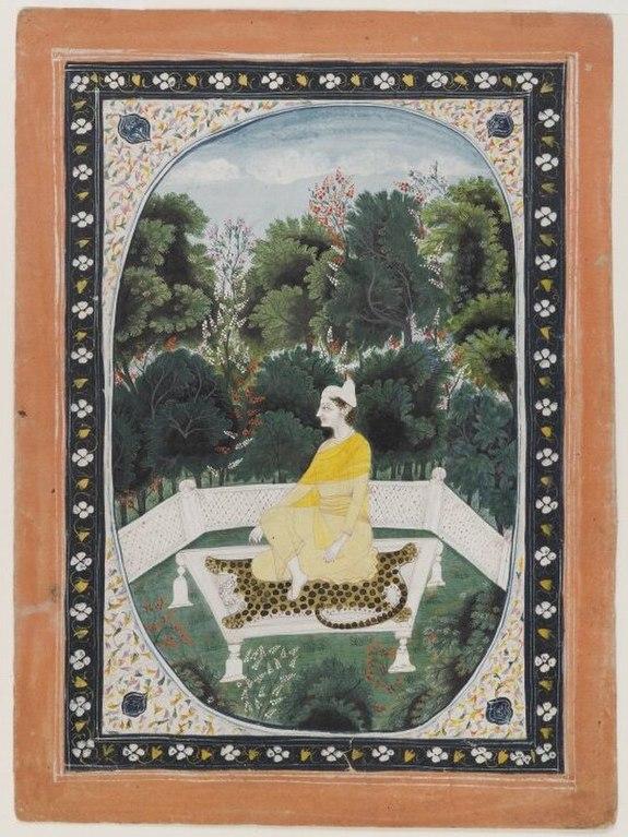 Brooklyn Museum - Man Meditating in a Garden Setting