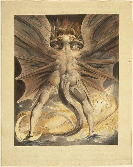 The Great Red Dragon and the Woman Clothed with the Sun (Rev. 12 1-4) - William Blake Brooklyn Museum Brooklyn Museum - The Great Red Dragon and the Woman Clothed with the Sun (Rev. 12 1-4) - William Blake.jpg