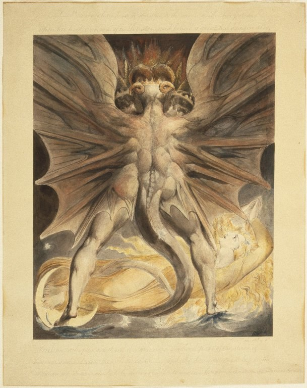 Brooklyn Museum - The Great Red Dragon and the Woman Clothed with the Sun (Rev. 12 1-4) - William Blake