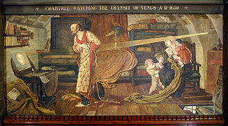 Science and engineering in Manchester - A romanticised version of William Crabtree observing the transit of Venus by Madox Brown.