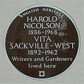 Brown plaque Vita Sackville-West and Harold Nicolson.jpg