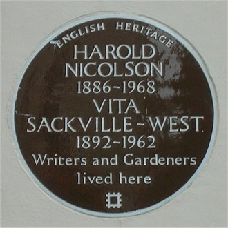 Harold Nicolson - Commemorative plaque in Ebury Street, London