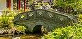 Brug over waterloop. Locatie, Chinese tuin Het Verborgen Rijk van Ming in de Hortus Haren 02.jpg