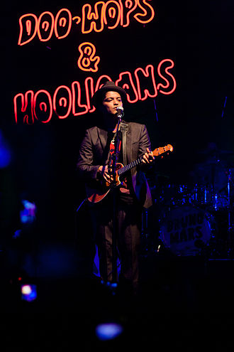 The Doo-Wops & Hooligans Tour - Mars performing on tour in Houston, Texas.
