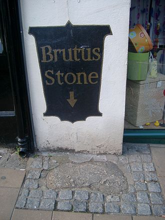Totnes - The Brutus Stone in Fore Street