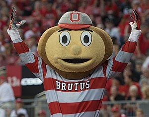 Brutus Buckeye - Brutus during the Army game in 2017
