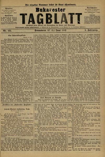 File:Bukarester Tagblatt 1882-06-17, nr. 131.pdf