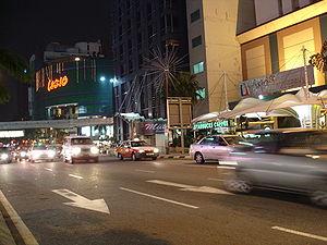 Jalan Bukit Bintang - Jalan Bukit Bintang at night.