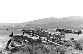 Jagdgeschwader 52 - Bf 109's of I./JG 52 at Anapa, early 1944.