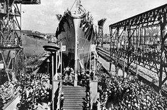 Admiral Hipper-class cruiser - Prinz Eugen at her launch