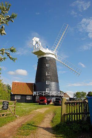Burnham Overy Staithe Windmill - Image: Burnham Overy Tower Windmill