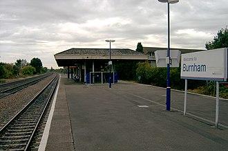 Burnham railway station - Image: Burnham station